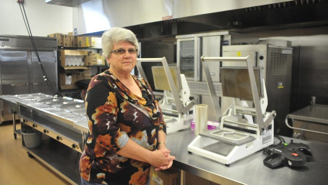 Virginia Hammontree stands in the kitchen at the Crawford County Council on Aging.