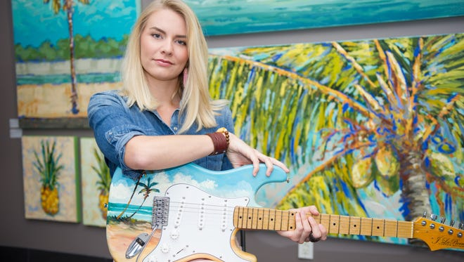 Joseph LaPierre began his career as a musician before turning to palette artist, says daughter Sarah LaPierre, pictured.