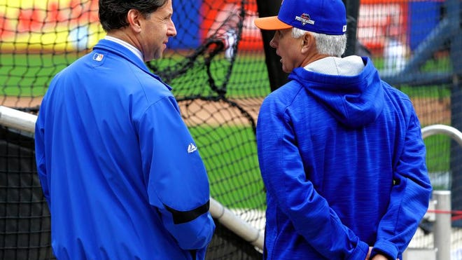 Chief operating officer Jeff Wilpon, left, says manager Terry Collins is part of a group working to improve the Mets' fortunes.