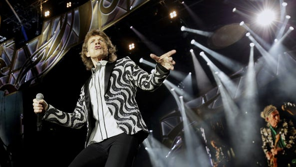 Mick Jagger of The Rolling Stones performs during their