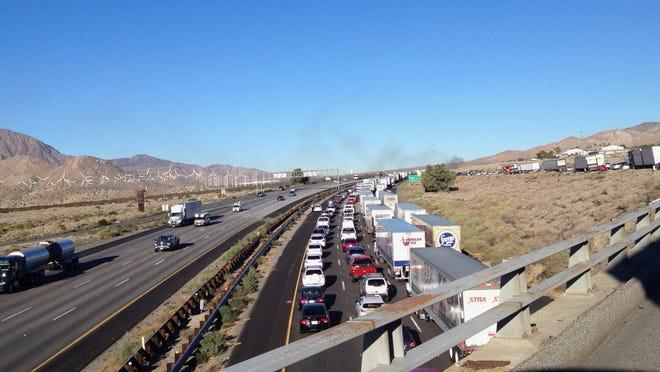 As many as 11,000 motorists were stuck on I-10.