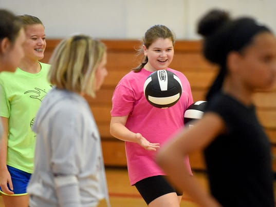Volleyball at Shelburne Middle