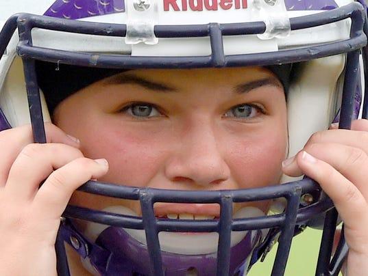 Waynesboro's female linebacker