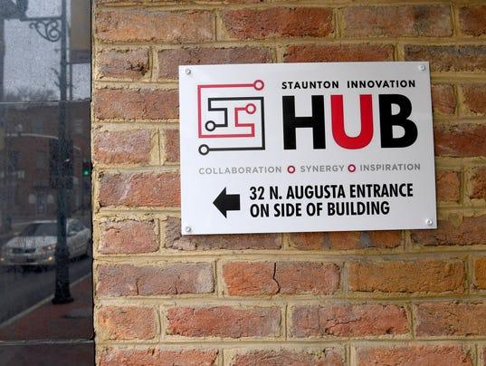Staunton Innovation Hub ribbon cutting ceremony