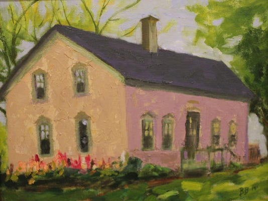 The Widder Homestead oil by Barbara Barrows of Elkhart Lake.JPG