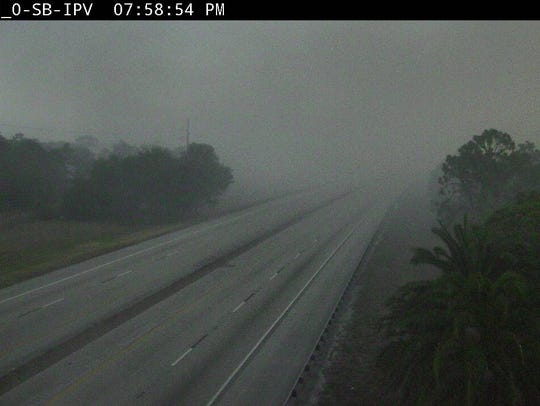 Florida's Turnpike was shrouded in smoke near Port