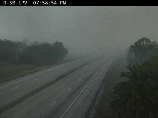 Florida's Turnpike was shrouded in smoke near Port St. Lucie Boulevard about 8 p.m. Thursday.