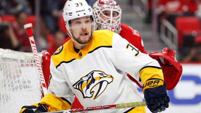 Predators forward Viktor Arvidsson has three goals in his past two games and 15 points in his past 16 games.