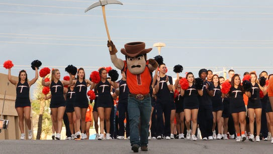 The UTEP cheerleaders and Paydirt Pete will be part