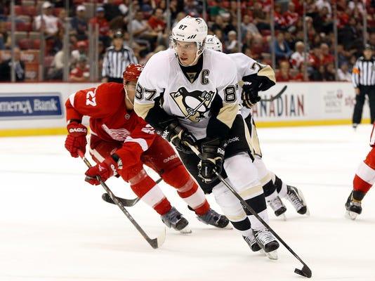 Penguins Red Wings Hockey