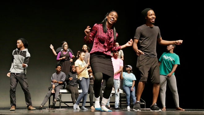 Students rehearse for the Black Culture Center's Cultural Arts Festival Monday, November 28, 2016, in Loeb Playhouse on the campus of Purdue University. The festival takes place Friday, December 2, at Loeb Playhouse.