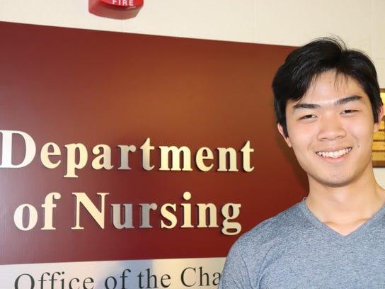 Key Nguyen, Class of 2021, at UVM College of Nursing