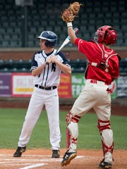 Reitz's Camden Hancock takes an intentional walk against