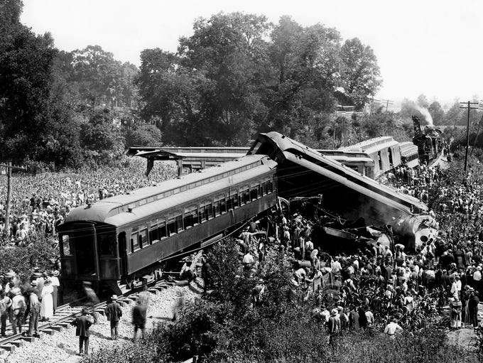 The July 9, 1918 wreck of two passenger trains coming