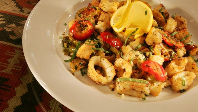 CAV's Point Judith Calamari. If making it at home, use the best quality seafood.