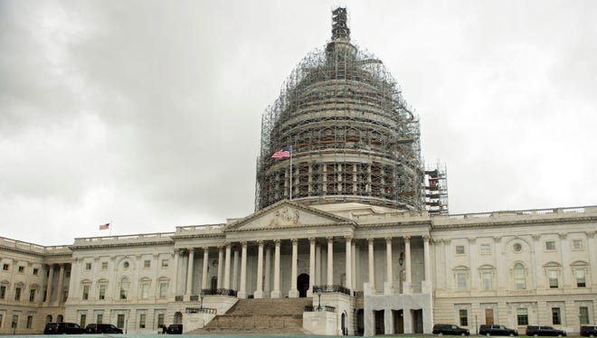 The U.S Capitol Building,