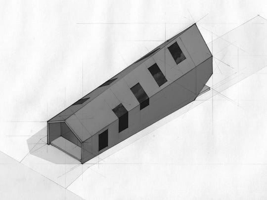 Robert Donnelly's shotgun house concept.