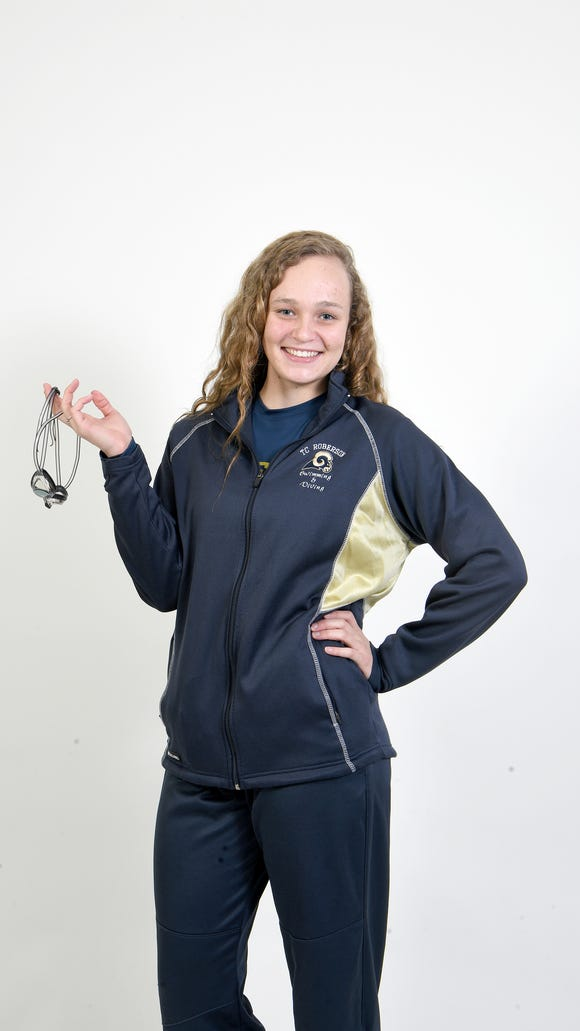 Grace Reeder is a junior on the Roberson swim team.