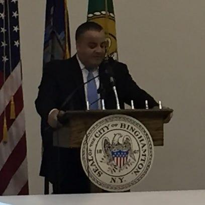 Binghamton Mayor Richard David delivers his State of