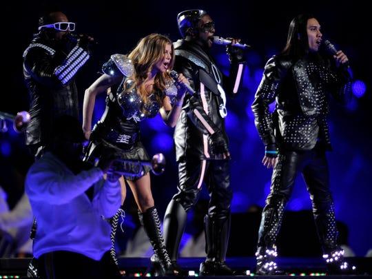 Arlington, TX  -- SUPER BOWL XLV The Black Eyed Peas perform at halftime.