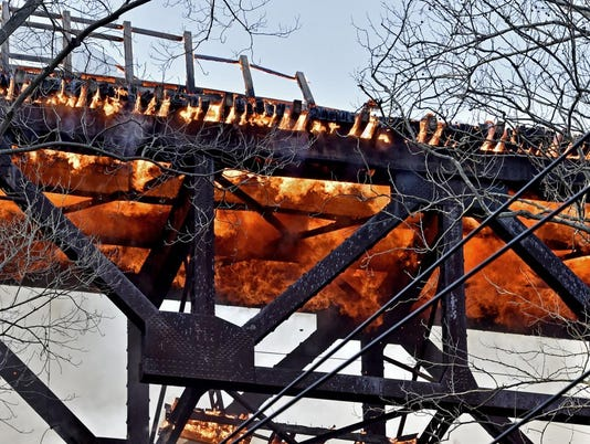railroad bridge fire