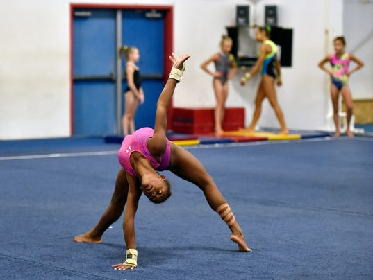 Usa Gymnast Trinity Thomas Attempts To Be One Of World S Best