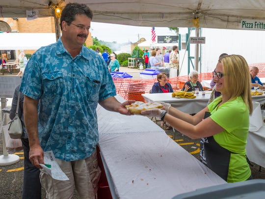 Food is a major draw at the St. Anthony's Italian Feast Days in Endicott.