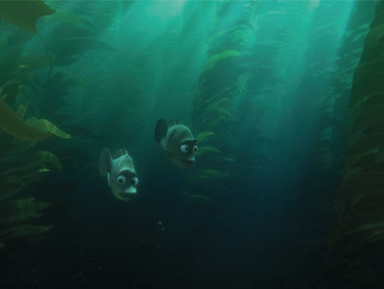 Fish in the sea kelp of 'Finding Dory.'
