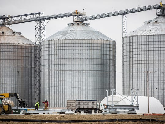 The exterior of the Cardinal Ethanol plant Friday morning.