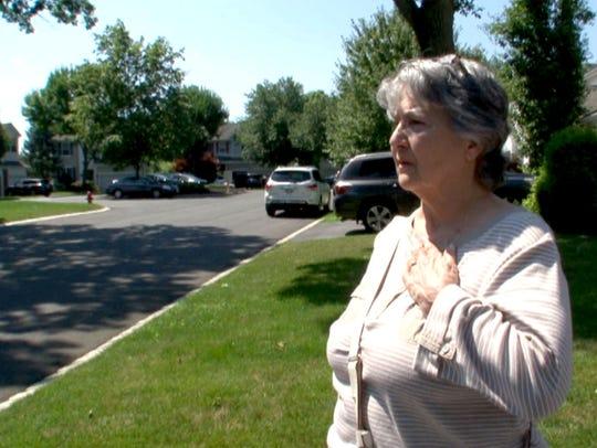 Rosalind Innucci speaks about her neighbor Dan Baldassare