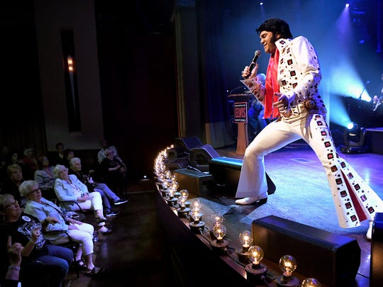 Al Joslin of Texas performs during the Ultimate Elvis