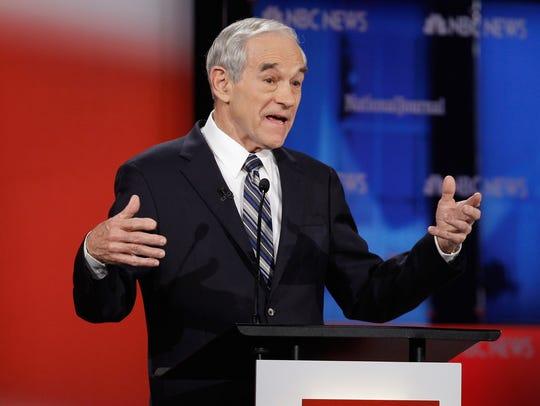 Ron Paul participates in a GOP presidential debate