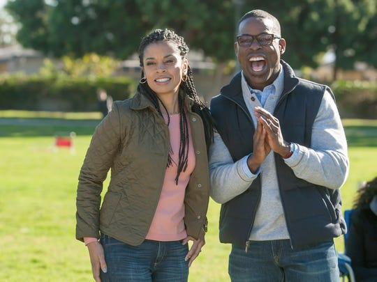 Susan Kelechi Watson, left, and Sterling K. Brown play