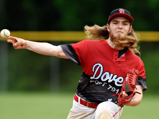 Dover's Josh Spirito was dominant on the mound Sunday