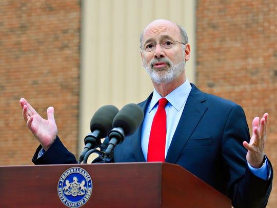Gov. Tom Wolf announces numerous grants, including