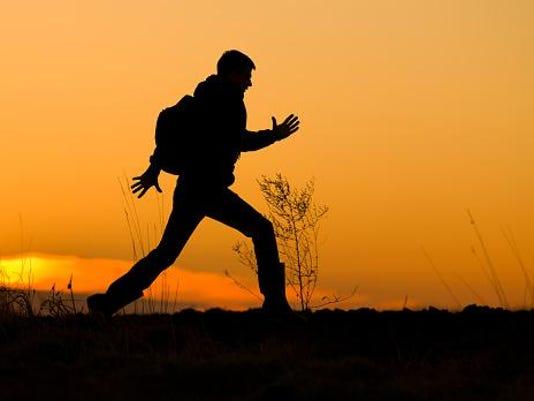 Man on run