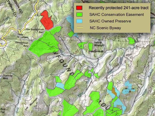 The Asheville-based Southern Appalachian Highlands Conservancy bought 241 acres on Little Sandy Mush bald in Madison County for permanent conservation.