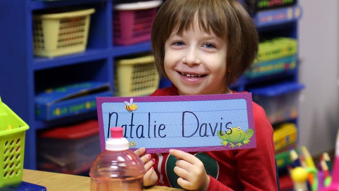 Natalie Davis is back in kindergarten after undergoing a heart transplant last May.