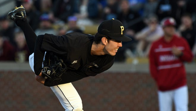 In two starts at Alexander Field, Purdue left-hander Gareth Stroh has 12 strikeouts vs. two walks over 15 innings and has limited opponents to nine hits and a .167 batting average.