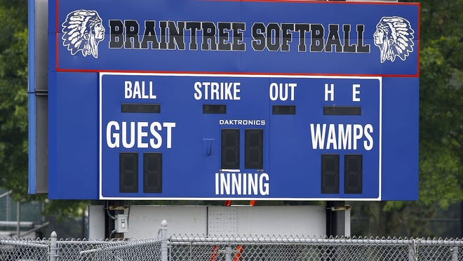 "The town of Braintree is considering changing the name of the school mascot, ""Wamps.""   Greg Derr/The Patriot Ledger"