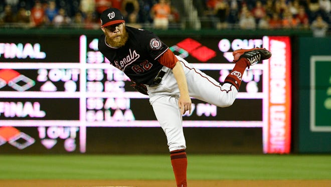 Washington Nationals relief pitcher and Shawnee High School grad Sean Doolittle (62) is putting up some incredible numbers this season.