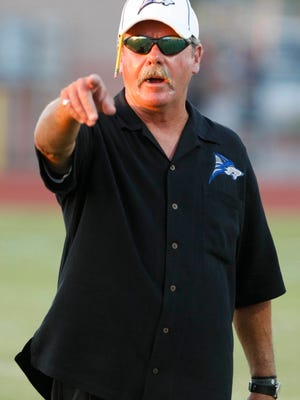 Former Chandler High coach Jim Ewan, here coaching the Wolves in 2010, will next take the reins at Mesa Westwood, after a five-year hiatus from head coaching.