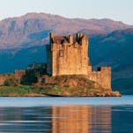 Scotland's most achingly beautiful castle, Eilean Donan is situated on a tiny tidal island between three different lochs. Visitors can access the 13th-century castle via a pretty stone bridge.