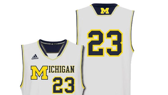 Michigan's 1989 throwback replica jersey on MDen.com.