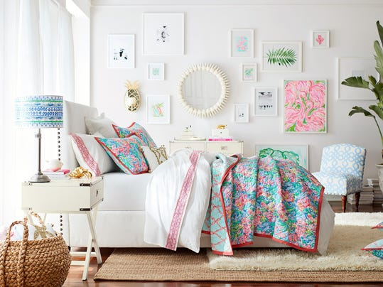 Pottery Barn Main Bedroom_Lilly Pulitzer