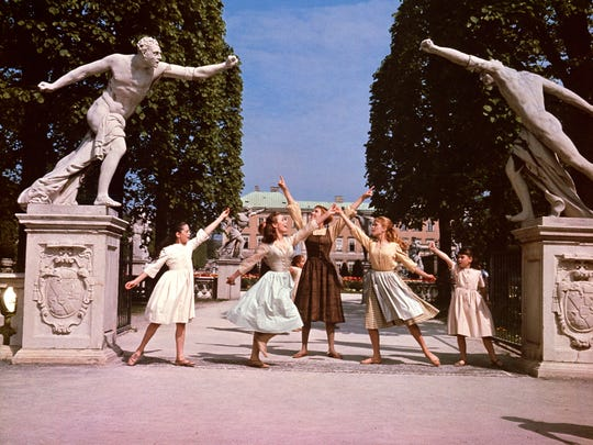"From left, Angela Cartwright, as Brigitta, Chairmian Carr, as Liesl, Julie Andrews, as Maria, Heather Menzies, as Louisa, and Debbie Turner, as Marta, in a scene during the song, ""Do-Re-Mi,"" from the film, ""The Sound of Music."" The 1965 Oscar-winning film adaptation of the Rodgers & Hammerstein musical ""The Sound of Music"" is celebrating its 50th birthday this year. To honor the milestone, 20th Century Fox is releasing a five-disc Blu-ray/DVD/Digital HD collector's edition, the soundtrack is being re-released, the film will be screened at the TCM Classic Film Festival in Hollywood later this month and to over 500 movie theaters in April 2015."