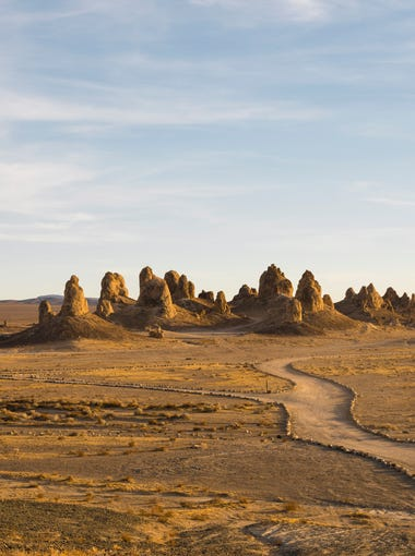 The Trona Pinnacles are an otherworldly geological phenomenon.