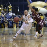 Montana State guard Marcus Colbert (22) drives against Montana earlier this season in Bozeman.