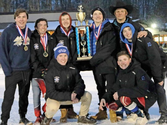 The Lakeland boys completed a perfect season in the Southeast Michigan Ski League's Alpine Division.
