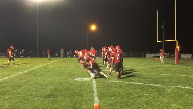 Riverheads warms up Nov. 18 before the game.